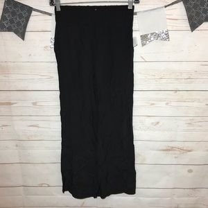Ecote Black High Waisted Crop Pull On Pants XS